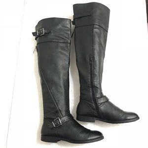 ALDO riding moto black boots 6.5